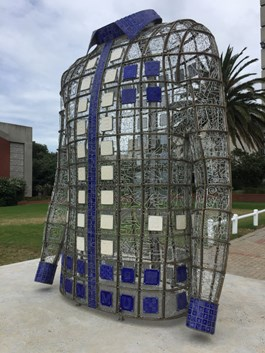 Art at the entrance at Nelson Mandela Metropolitan University, Port Elizabeth